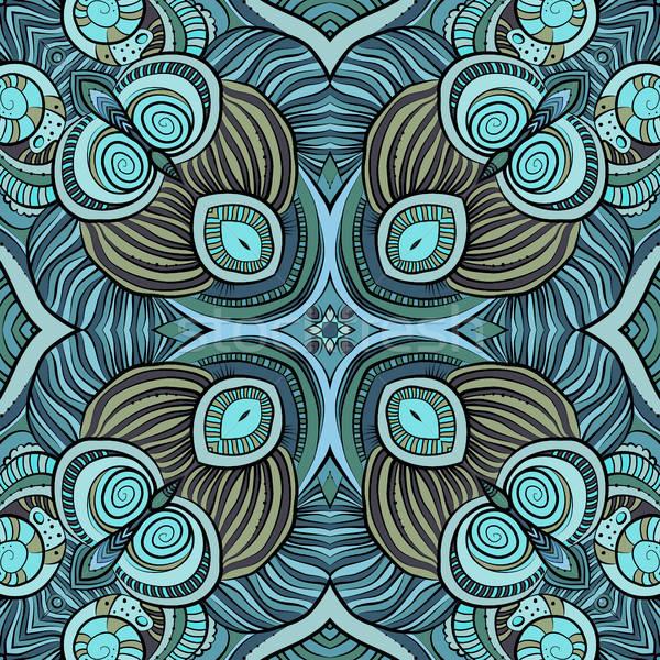 Abstract vector ethnic floral seamless pattern Stock photo © balabolka