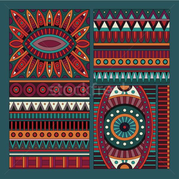 Abstrato vetor tribal étnico projeto elementos Foto stock © balabolka