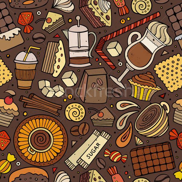 Cartoon кофейня кофе кафе чай Сток-фото © balabolka