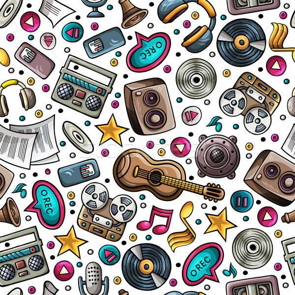 Cartoon музыкальные инструменты музыку объекты Сток-фото © balabolka