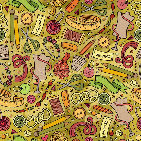Desenho animado bonitinho feito à mão colorido Foto stock © balabolka