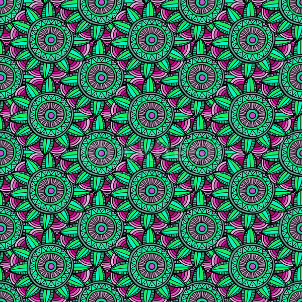Abstract vector floral ethnic background Stock photo © balabolka