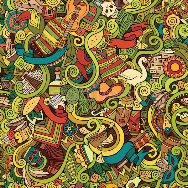 Zdjęcia stock: Cartoon · bazgroły · ameryka · Łacińska · amerykański · stylu