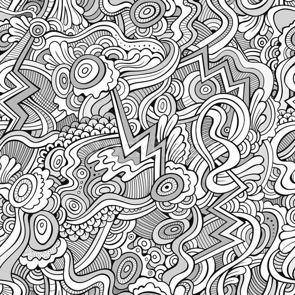 Abstract vector decorative ethnic hand drawn seamless pattern Stock photo © balabolka