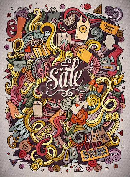 Desenho animado bonitinho compras ilustração Foto stock © balabolka