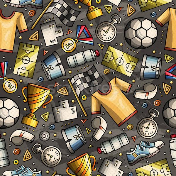 Cartoon cute hand drawn Sport seamless pattern vector