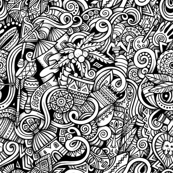 Cartoon hand-drawn doodles on the subject of Africa style theme  Stock photo © balabolka