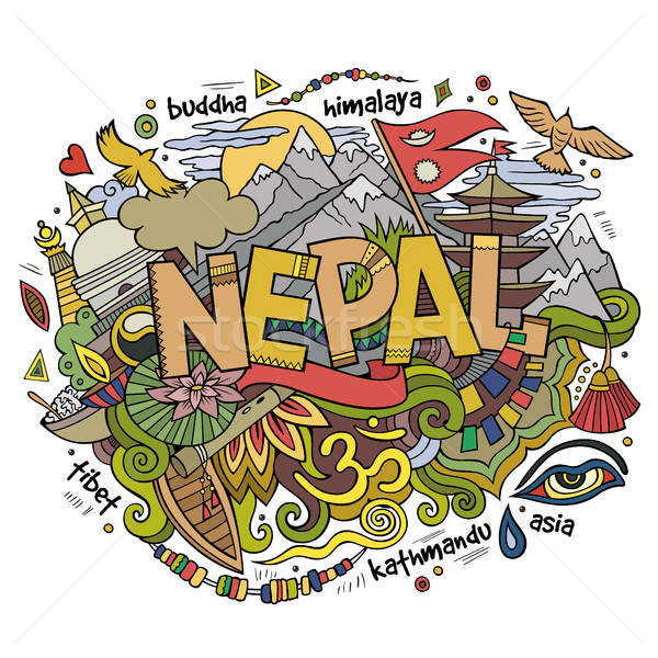 Непал стране стороны Элементы Сток-фото © balabolka