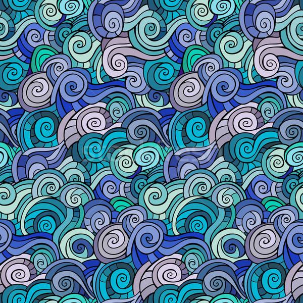 Waves and curls pattern. Stock photo © balabolka