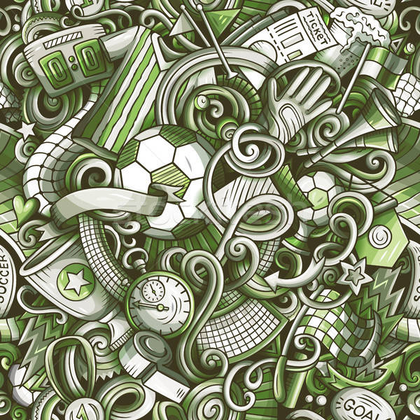 Cartoon scarabocchi calcio calcio simboli Foto d'archivio © balabolka