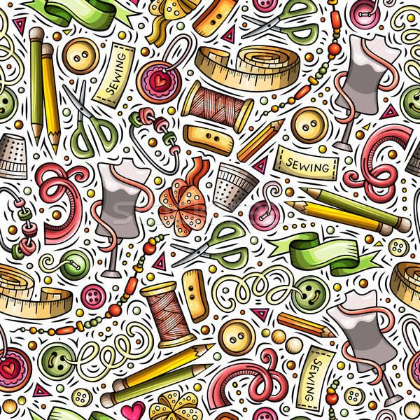 Cartoon cute wykonany ręcznie kolorowy Zdjęcia stock © balabolka