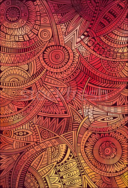 Soyut vektör kabile etnik model dekoratif Stok fotoğraf © balabolka