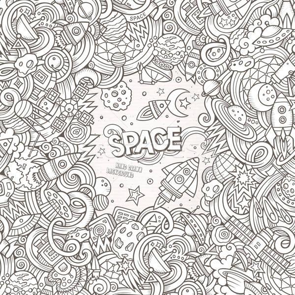 Cartoon cute scarabocchi spazio illustrazione Foto d'archivio © balabolka