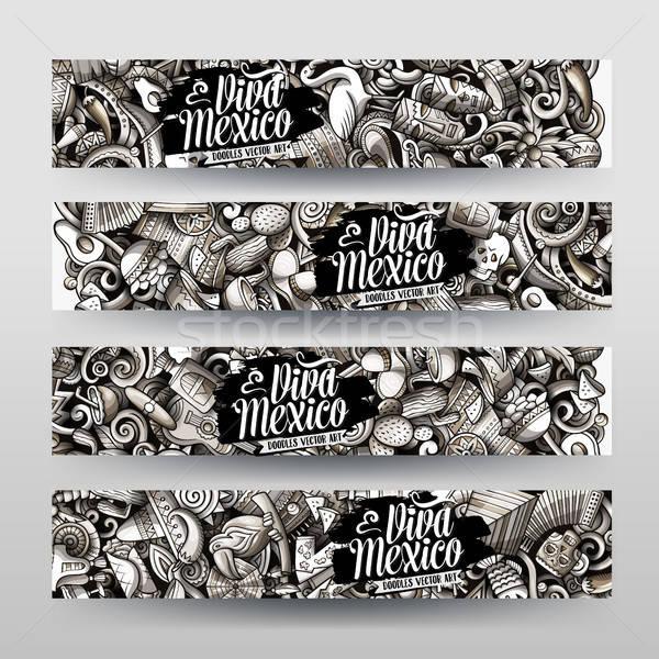 Cartoon gráficos vector dibujado a mano garabatos américa latina Foto stock © balabolka
