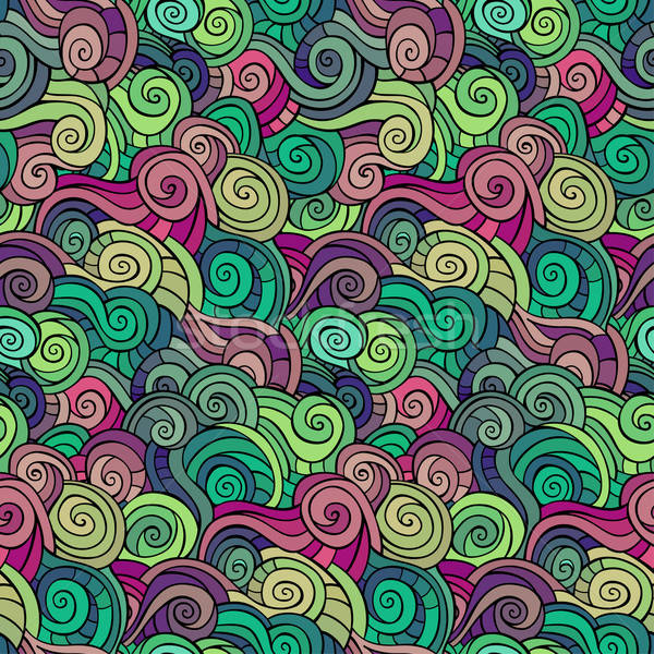 abstract pattern waves and curls Stock photo © balabolka