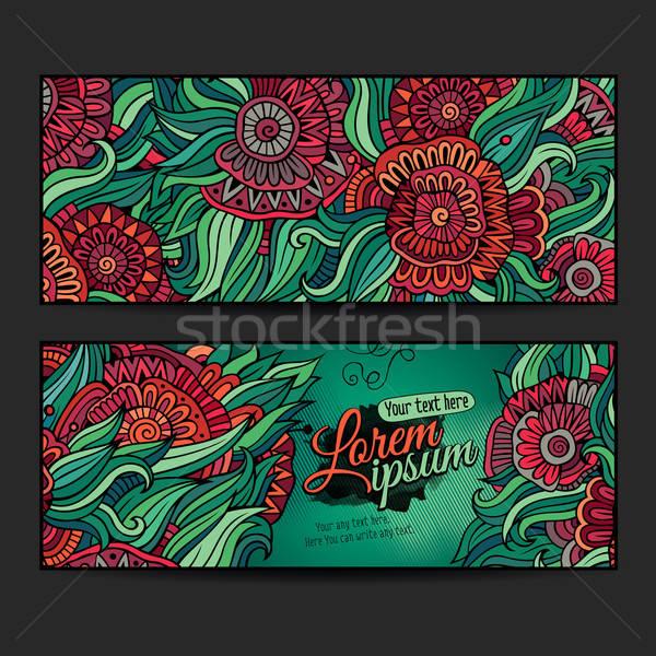 向量 裝飾的 模板 設計 卡 商業照片 © balabolka