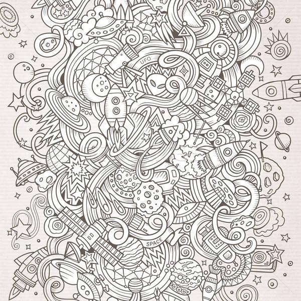 Stok fotoğraf: Karikatür · karalamalar · uzay · örnek · hat · sanat