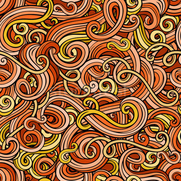 Decorative doodle abstract curly seamless pattern Stock photo © balabolka