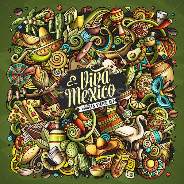 Cartoon vector garabatos américa latina ilustración colorido Foto stock © balabolka
