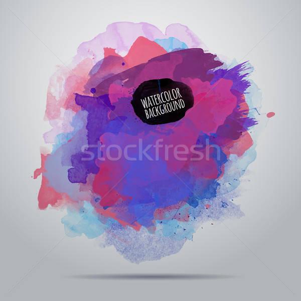 Vettore acquerello vernice abstract sporca design Foto d'archivio © balabolka