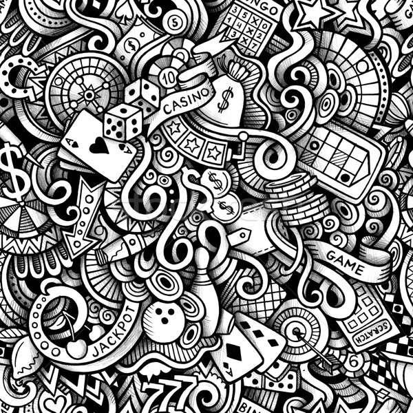 Desenho animado cassino linha Foto stock © balabolka