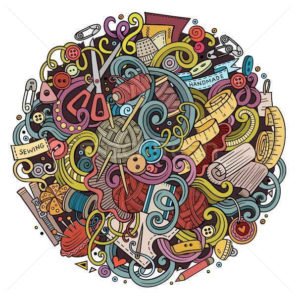 Cartoon cute bazgroły wykonany ręcznie ilustracja Zdjęcia stock © balabolka