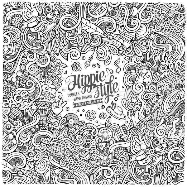 Cartoon hand-drawn doodles hippie illustration Stock photo © balabolka