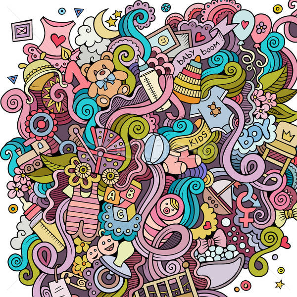Desenho animado bonitinho bebê ilustração Foto stock © balabolka