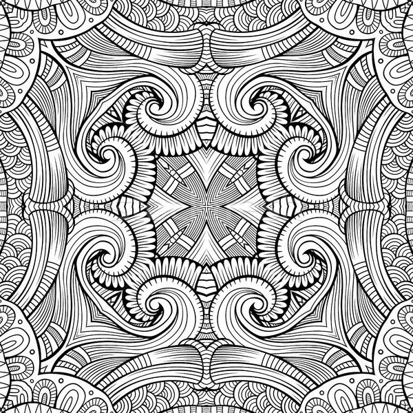 Stock photo: Abstract vector ethnic sketchy background