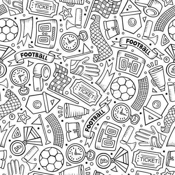 Cartoon football symboles objets Photo stock © balabolka