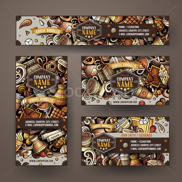 корпоративного личности вектора набор дизайна Сток-фото © balabolka