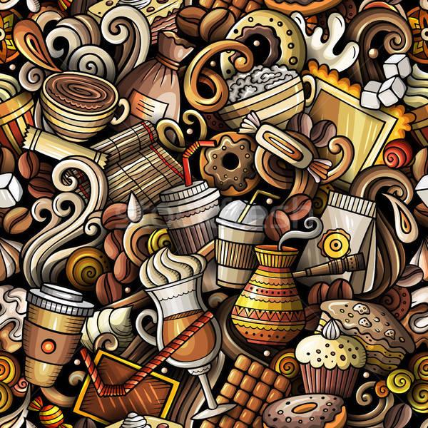 漫画 かわいい 手描き コーヒーショップ ストックフォト © balabolka
