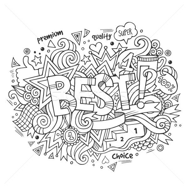 Best hand lettering and doodles elements background Stock photo © balabolka