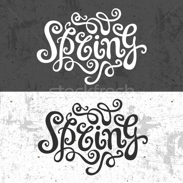весны стороны ручной работы каллиграфия аннотация вектора Сток-фото © balabolka
