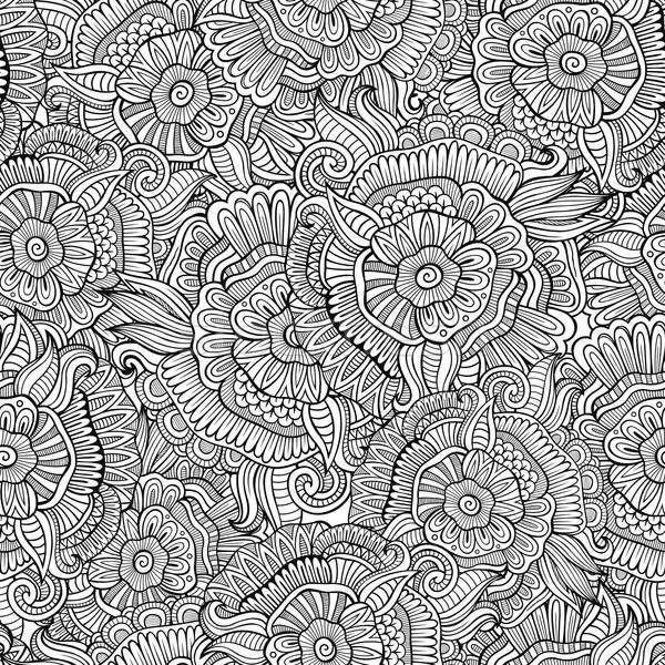 Zdjęcia stock: Wektora · bezszwowy · streszczenie · kwiaty · wzór · piękna