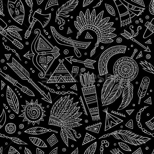 Tribali abstract nativo lavagna etnica Foto d'archivio © balabolka