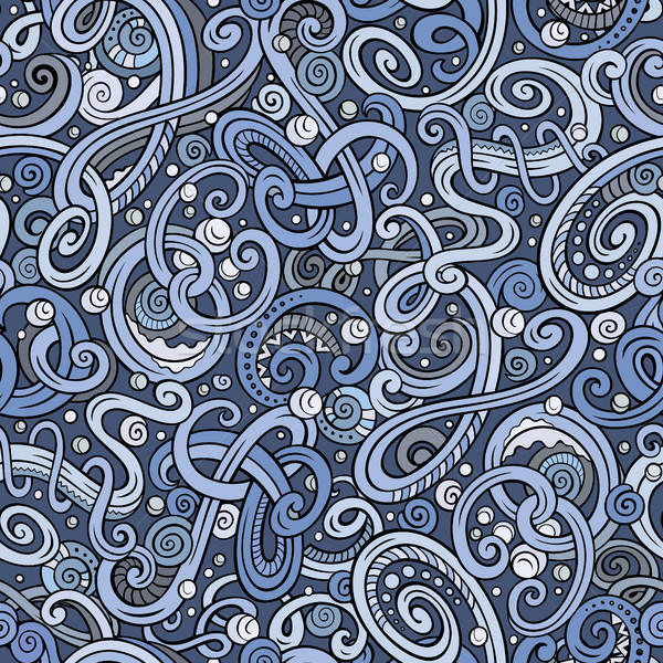 Decorative doodle abstract winter curly seamless pattern Stock photo © balabolka