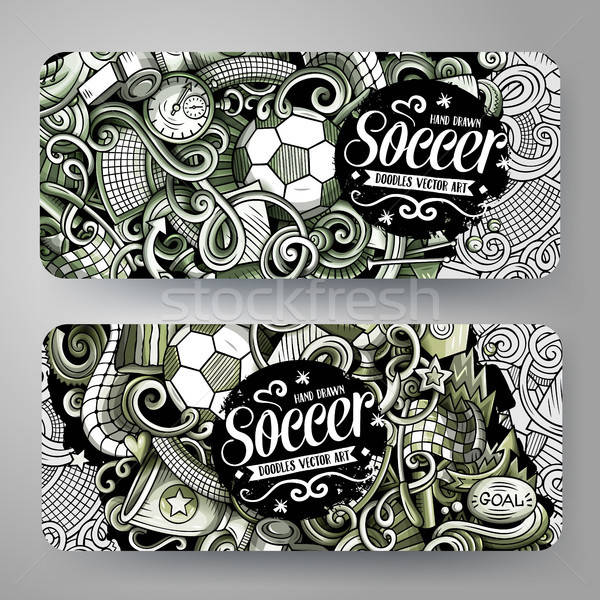 Cartoon grafica vettore scarabocchi calcio Foto d'archivio © balabolka