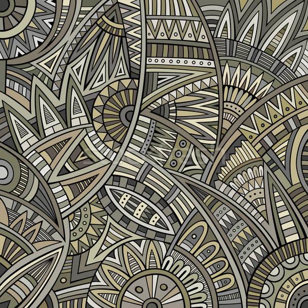 Abstrato vetor tribal étnico padrão verão Foto stock © balabolka