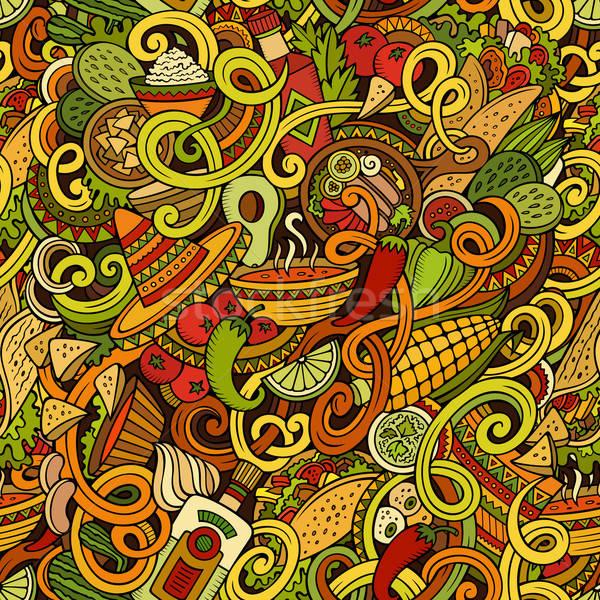 Cartoon cibo messicano scarabocchi dettagliato oggetti Foto d'archivio © balabolka