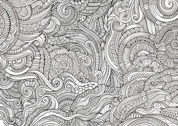 Absztrakt vázlatos firkák kézzel rajzolt kisebbségi minta Stock fotó © balabolka