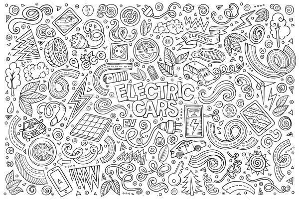 Ligne art vecteur doodle cartoon Photo stock © balabolka