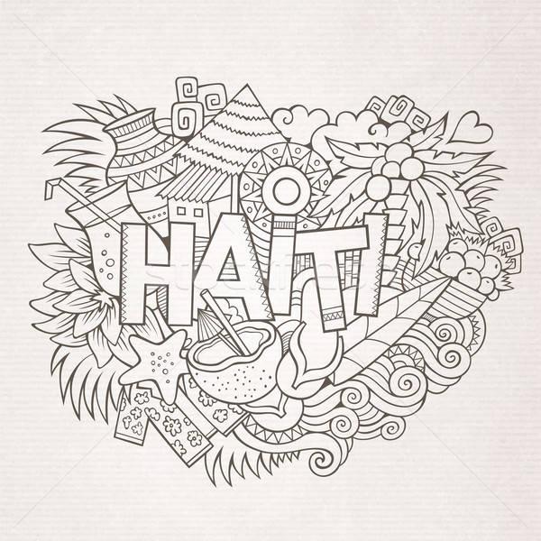ハイチ 手 要素 シンボル ベクトル ストックフォト © balabolka