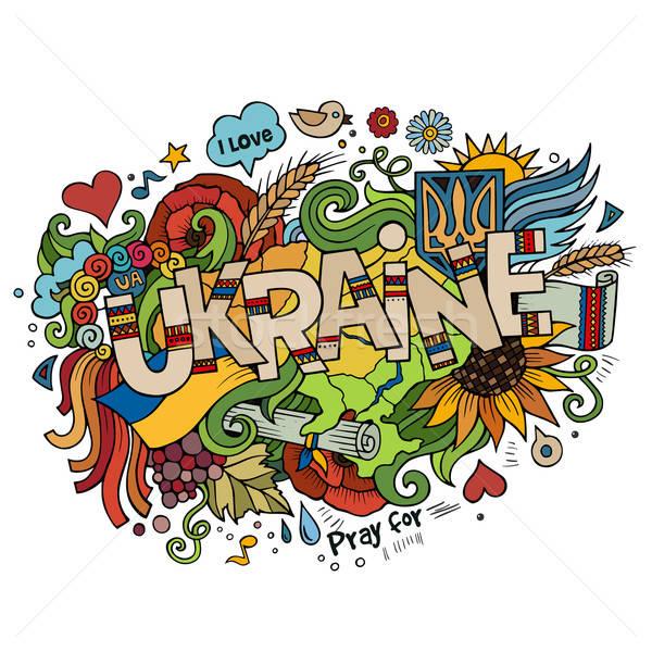 Oekraïne hand communie bloem zon Stockfoto © balabolka