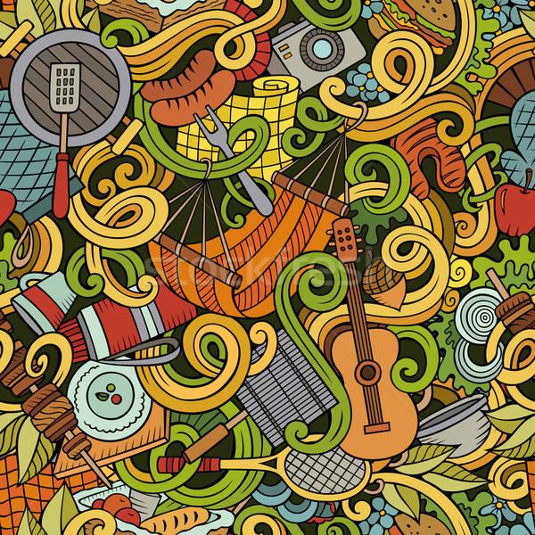 漫畫 野餐 塗鴉 詳細 對象 商業照片 © balabolka