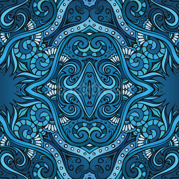 Geometric vector various strips motifs Stock photo © balabolka
