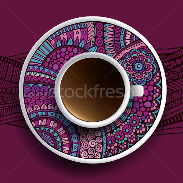 Foto stock: Copo · café · ornamento · pires · natureza