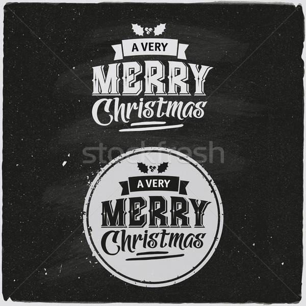 Natal conjunto projeto mão fundo Foto stock © balabolka