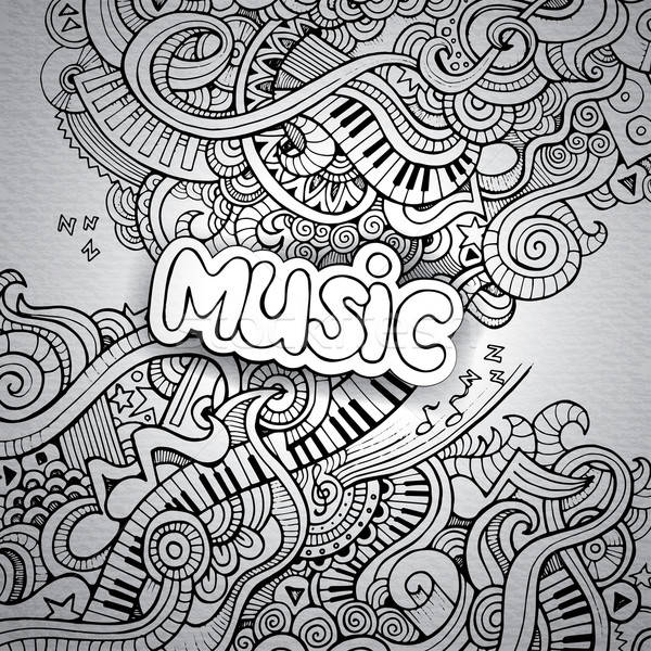Music Sketchy Notebook Doodles. Stock photo © balabolka