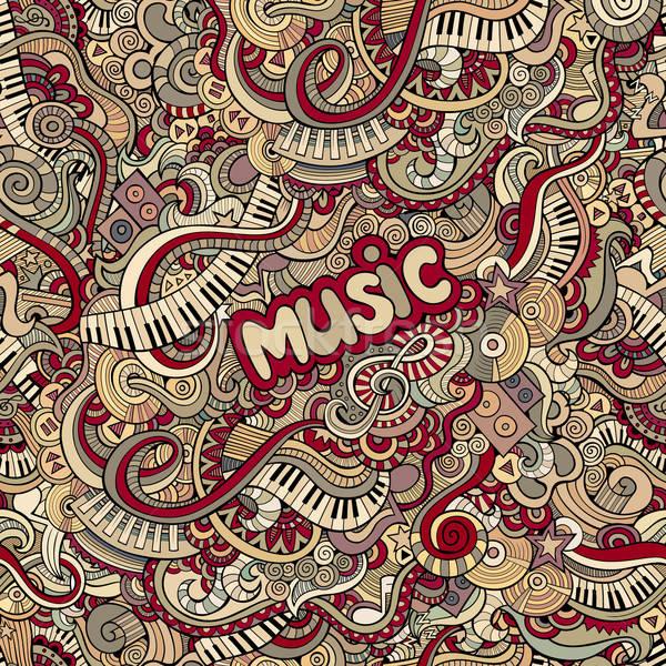 doodles music seamless pattern Stock photo © balabolka